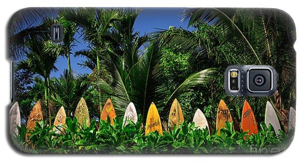Surf Board Fence Maui Hawaii Galaxy S5 Case