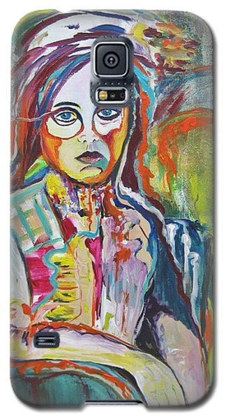 Galaxy S5 Case featuring the painting The Show Must Go On by Diana Bursztein
