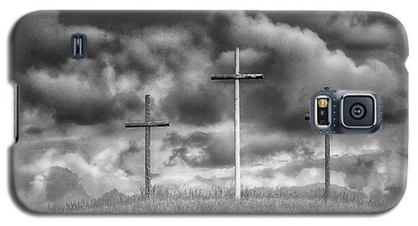 Three Crosses On Hill Galaxy S5 Case