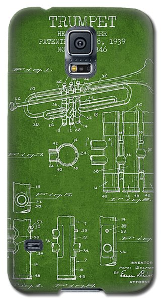 Trumpet Patent From 1939 - Green Galaxy S5 Case by Aged Pixel