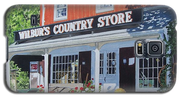 Galaxy S5 Case featuring the mixed media Wilbur's Country Store by Constance Drescher