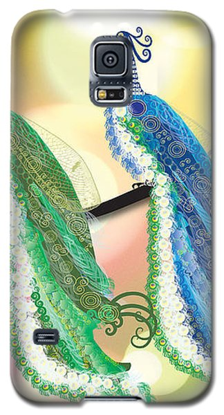 Galaxy S5 Case featuring the digital art Visionary Peacocks by Kim Prowse