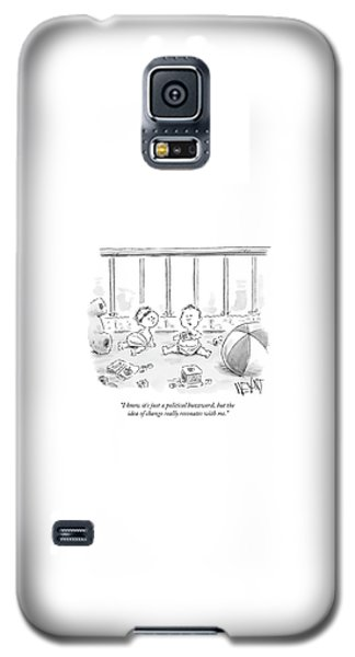 Barack Obama Galaxy S5 Case - I Know It's Just A Political Buzzword by Christopher Weyant
