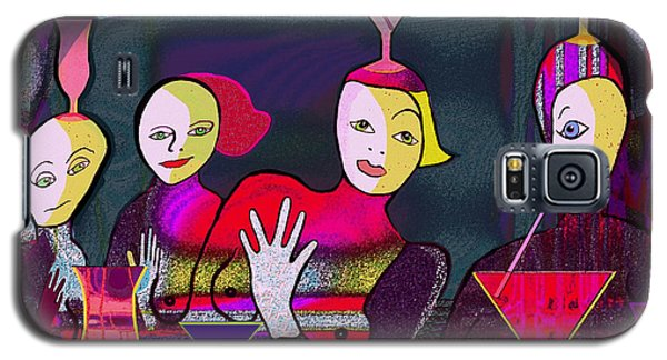 349 - Crazy Cocktail Bar   Galaxy S5 Case by Irmgard Schoendorf Welch