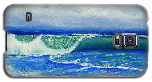 Galaxy S5 Case featuring the painting A Wave To Catch by Shelia Kempf