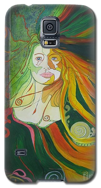 Galaxy S5 Case featuring the painting Alter Ego by Diana Bursztein