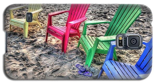 4 Beach Chairs Galaxy S5 Case by Michael Thomas