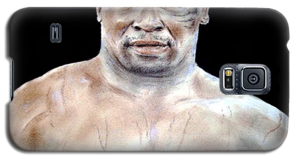 Galaxy S5 Case featuring the painting Champion Boxer And Actor Mike Tyson by Jim Fitzpatrick