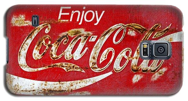 Coca Cola Vintage Rusty Sign Black Border Galaxy S5 Case