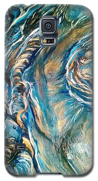 Galaxy S5 Case featuring the painting Following Air by Dawn Fisher