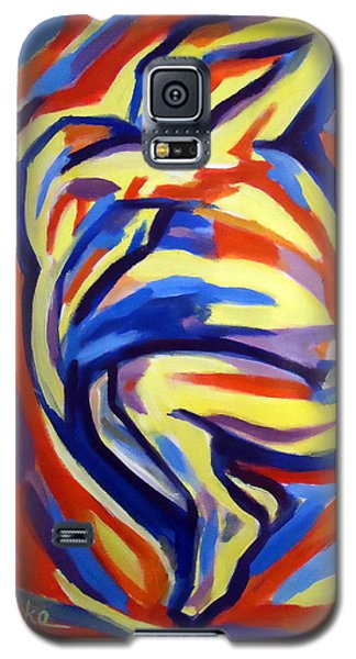 Galaxy S5 Case featuring the painting Here by Helena Wierzbicki