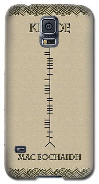 Galaxy S5 Case featuring the digital art Kehoe Written In Ogham by Ireland Calling