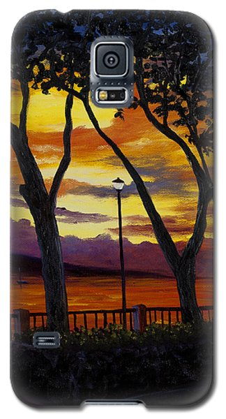 Galaxy S5 Case featuring the painting Lahaina Sunset by Darice Machel McGuire