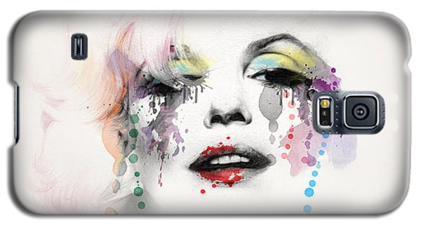 Marilyn Monroe Galaxy S5 Case by Mark Ashkenazi