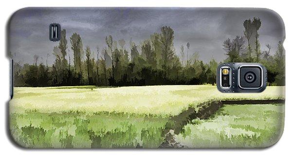Mustard Fields In Kashmir Galaxy S5 Case