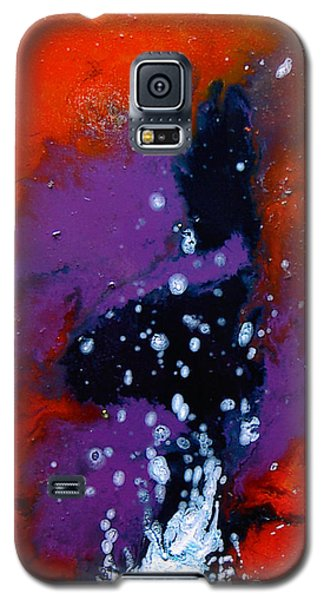Galaxy S5 Case featuring the painting No Tittle by Min Zou