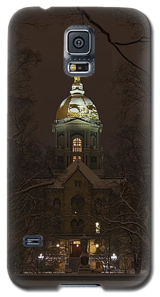 Notre Dame Golden Dome Snow Poster Galaxy S5 Case