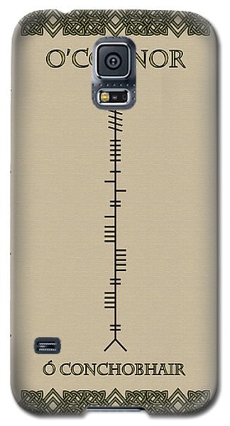 Galaxy S5 Case featuring the digital art O'connor Written In Ogham by Ireland Calling