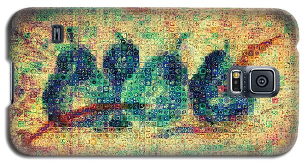 Galaxy S5 Case featuring the painting 4 Pears Mosaic by Paula Ayers
