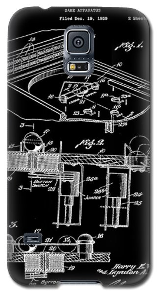Pinball Machine Patent 1939 - Black Galaxy S5 Case by Stephen Younts