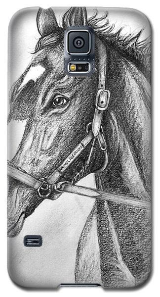 Galaxy S5 Case featuring the drawing Rachel Alexandra by Patrice Torrillo