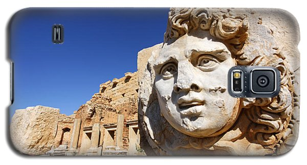 Sculpted Medusa Head At The Forum Of Severus At Leptis Magna In Libya Galaxy S5 Case