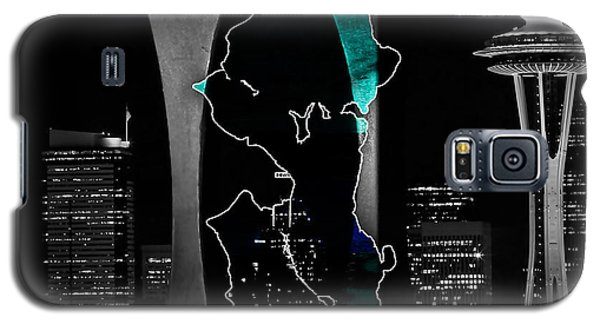 Seattle Map And Skyline Watercolor Galaxy S5 Case