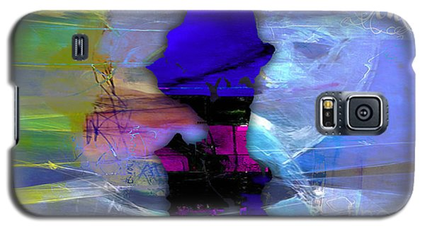 Seattle Map Watercolor Galaxy S5 Case by Marvin Blaine