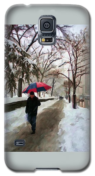 Snowfall In Central Park Galaxy S5 Case