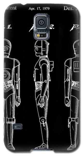 R2-d2 Galaxy S5 Case - Star Wars C-3po Patent 1979 - Black by Stephen Younts