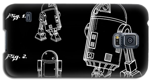 R2-d2 Galaxy S5 Case - Star Wars R2-d2 Patent 1979 - Black by Stephen Younts