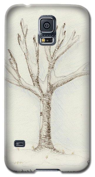 4 Trees-2nd Tree Winter Galaxy S5 Case