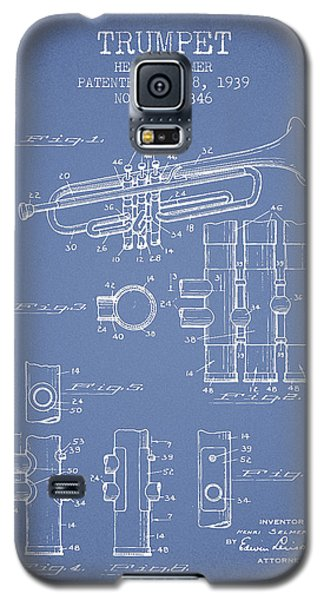Trumpet Galaxy S5 Case - Trumpet Patent From 1939 - Light Blue by Aged Pixel
