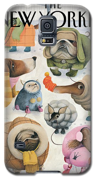 Cold Galaxy S5 Case - Baby Its Cold Outside by Ana Juan