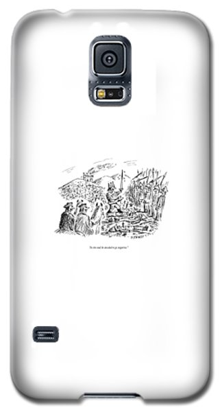 Barack Obama Galaxy S5 Case - In The End, He Decided To Go Negative by David Sipress