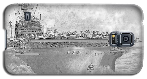 Usn Aircraft Carrier Abraham Lincoln Galaxy S5 Case by Jim Hubbard