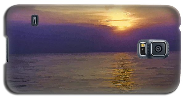 View Of Sunset Through Clouds Galaxy S5 Case by Ashish Agarwal