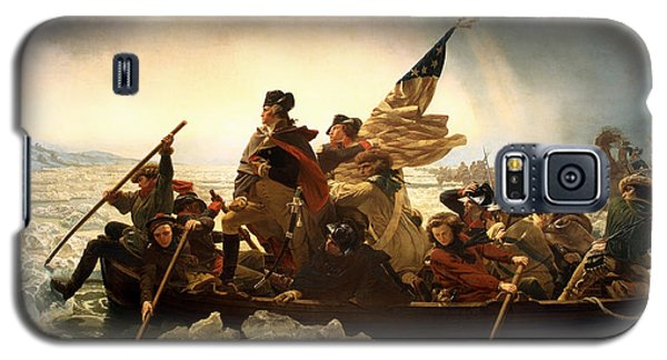 Galaxy S5 Case featuring the photograph Washington Crossing The Delaware by Emanuel Leutze