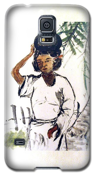 Galaxy S5 Case featuring the painting Water Carrier by Fereshteh Stoecklein