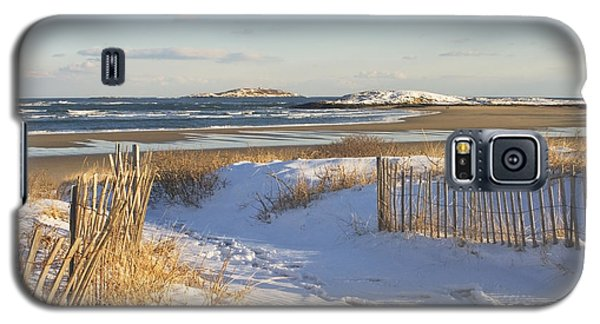 Winter At Popham Beach State Park Maine Galaxy S5 Case by Keith Webber Jr