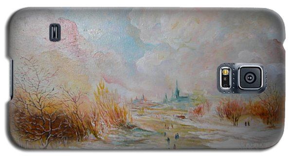 Galaxy S5 Case featuring the painting Winter Landscape by Egidio Graziani