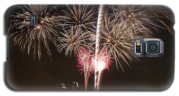Galaxy S5 Case featuring the photograph 4th Of July Fireworks Over Downtown San Diego by Nathan Rupert