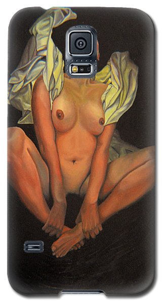 Galaxy S5 Case featuring the painting 5 30 A.m. by Thu Nguyen