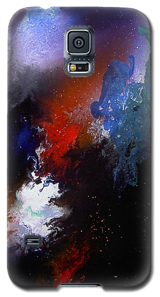 Galaxy S5 Case featuring the painting Abstract by Min Zou
