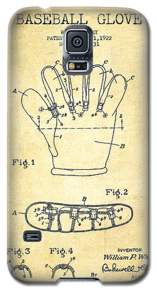 Baseball Gloves Galaxy S5 Case - Baseball Glove Patent Drawing From 1922 by Aged Pixel