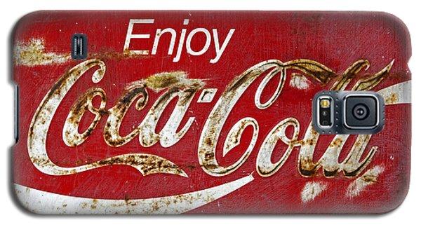 Coca Cola Vintage Rusty Sign Galaxy S5 Case by John Stephens