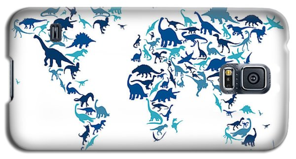 Dinosaur Map Of The World Map Galaxy S5 Case