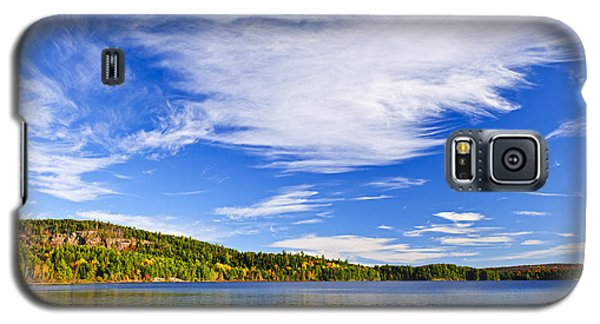 Fall Forest And Lake Galaxy S5 Case by Elena Elisseeva