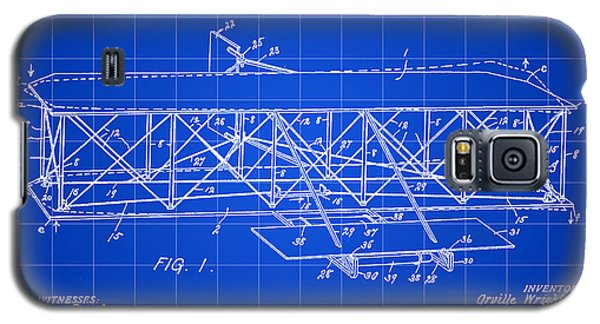 Flying Machine Patent 1903 - Blue Galaxy S5 Case by Stephen Younts