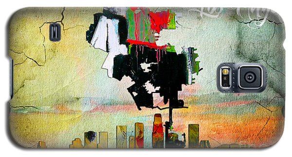 Los Angeles Map And Skyline Galaxy S5 Case